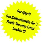 Unterhaltung für Public Viewing, Fanfest und Fanmeile