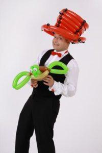 Der ballonkünstler für Gewerbeausstellung und sonstige Schauen ( Leistungsschau - Gewerbeschau - Verbraucherausstellung )