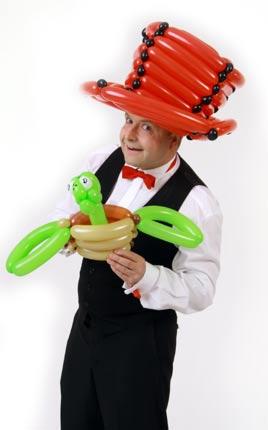 Ballonmodellieren mit dem Ballonkünstler und Luftballonkünstler in Stuttgart - Ulm - München und ganz Bayern und Baden-Württemberg