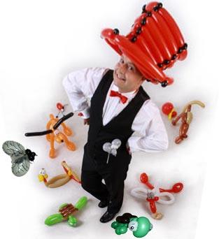Ballonkünstler zur Kinderunterhaltung als Kinderprogramm