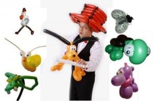 Der Ballonkünstler für Einkaufscenter für Marktcenter oder für Einkaufspassage - Luftballonkünstler - Ballontiere