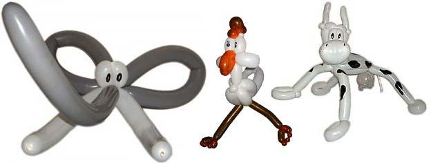 Der Ballonkünstler knotet tolle Ballonfiguren auf Ihrer Hochzeit oder Hochzeitsfeier bzw. Hochzeitsfest als Kinderprogramm