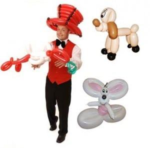 Der Ballonkünstler in Gaggenau mit seinen Ballonfiguren