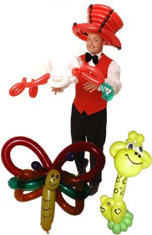 Ballonkünstler Herrenberg knotet Luftballonfiguren