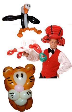 Ballonkünstler Sindelfingen bunte Ballonfiguren und Ballontiere