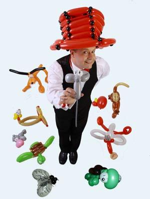 Ballonkünstler für Strassenfest als Unterhaltung und Luftballonkünstler für Stadtteilfest buchen