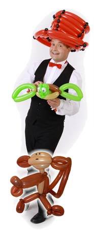 Ballonkünstler für Wirtschaftsschau buchen