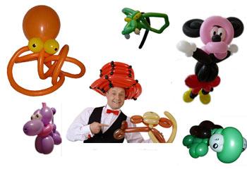 Ballonkünstler Modenpräsentation Luftballonfiguren