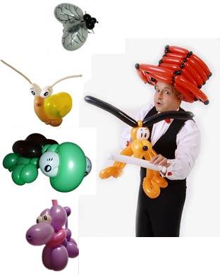 Ballonkünstler Modenschau