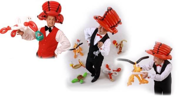 Ballonkünstler - Unterhaltung für Betriebsfeier und Firmenfeier - Luftballonkünstler - Ballonmodellierer