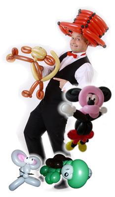 Buchen Sie den Ballonkünstler - Ballonfiguren - Luftballonkünstler - Luftballonfiguren für Ihr Event