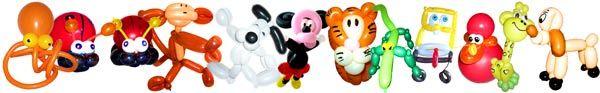 Kinderunterhaltung mit Ballonfiguren